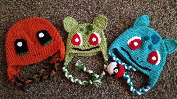 Pokemon Hat/Pokemon crochet hat/pokemon winter hat/Bulbasaur crochet ...