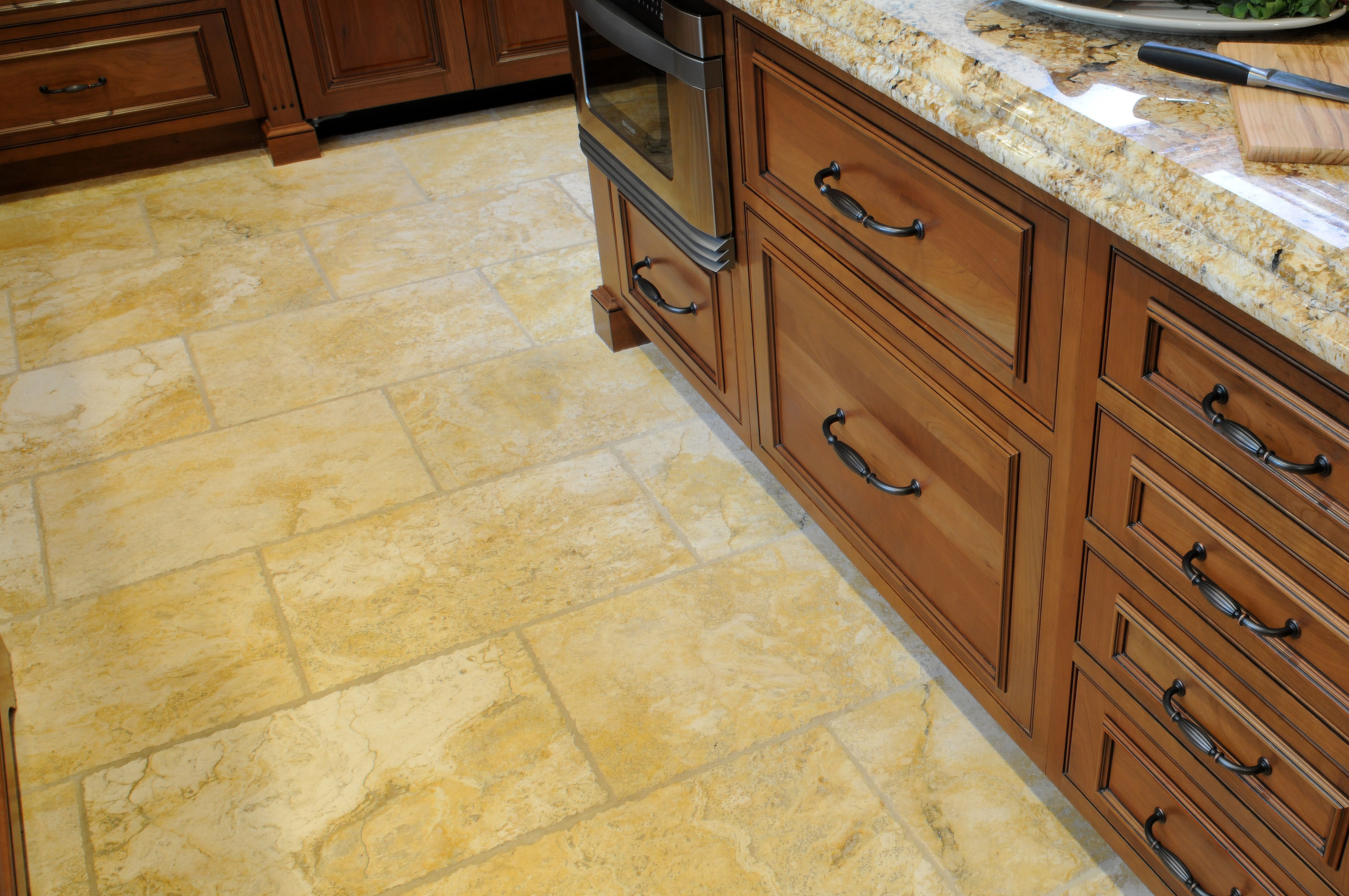 25+ Incredible Kitchen Floor Design With Stone Floor Ideas