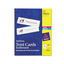 Avery Printable Tent Cards Embossed Uncoated Two Sided Printing 2 1 2 X 8 1 2 100 Cards 5305 Walmart Com Tent Cards Index Cards Cards