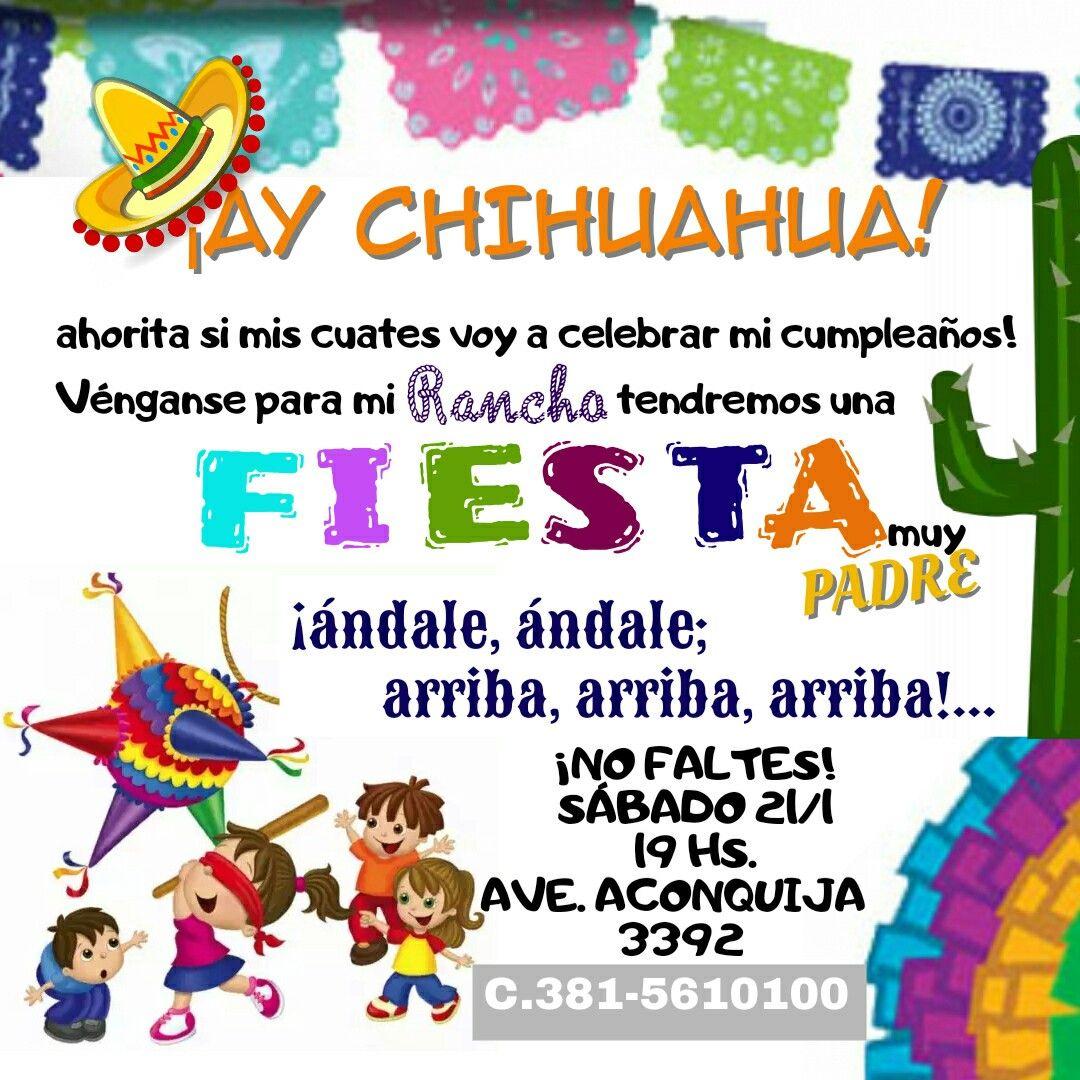 Tarjeta De Invitación Fiesta Mexicana Fiesta Mexicana