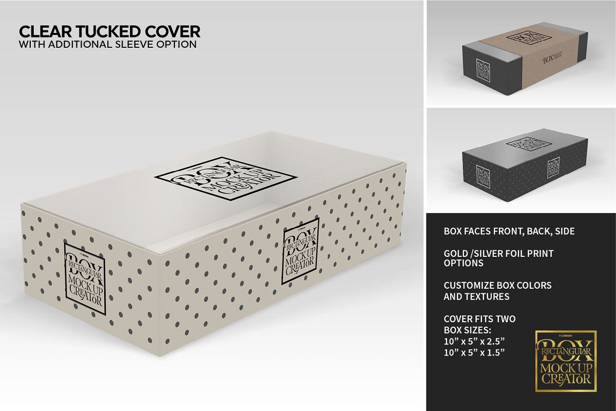 Download Rectangular Box Mock Up Creator The Creator Mockup Creator Silver Foil Printing