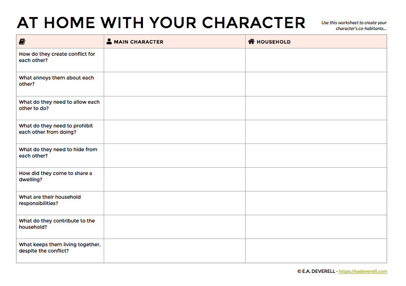 How to Create a Character's Family and Household