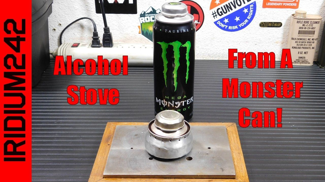 Make An Alcohol Stove From Monster Energy Drink Can Youtube