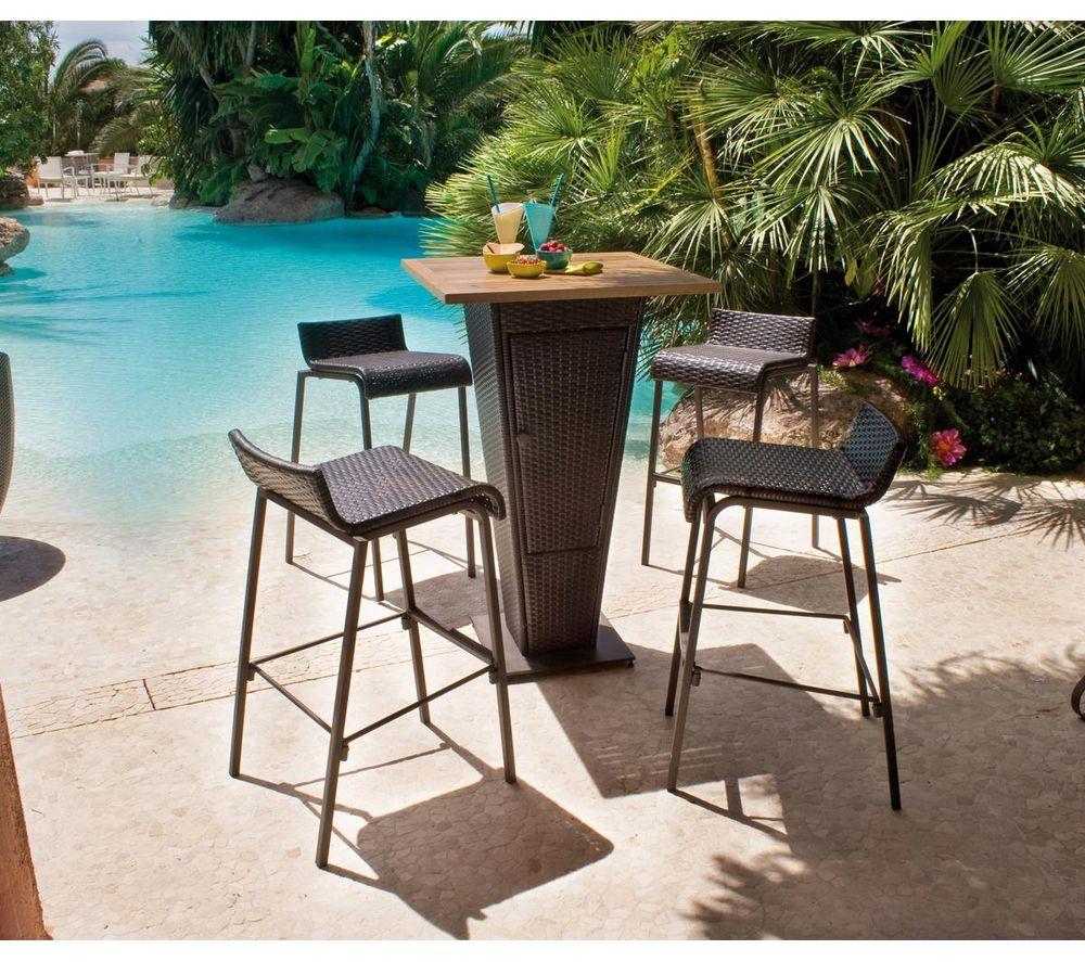 Set Bar Table 4 Chaises Prix Promo Carrefour 231 99 Ttc Au  # Abris De Jardin Karibu Carrefour