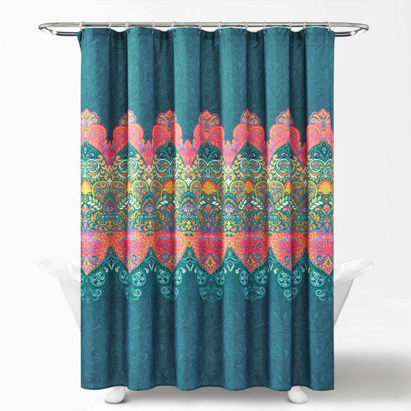 Galleria 14 Piece Paisley Shower Curtain Set + Hooks