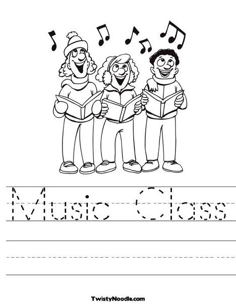 Music Class Worksheet Music Class Worksheets Kindergarten Music Music Coloring Sheets