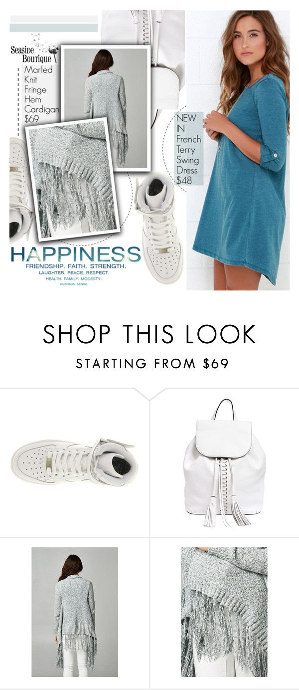 """""""Swing Dress"""" by seaside-boutique ❤ liked on Polyvore featuring NIKE, Rebecca Minkoff, women's clothing, women, female, woman, misses and juniors"""