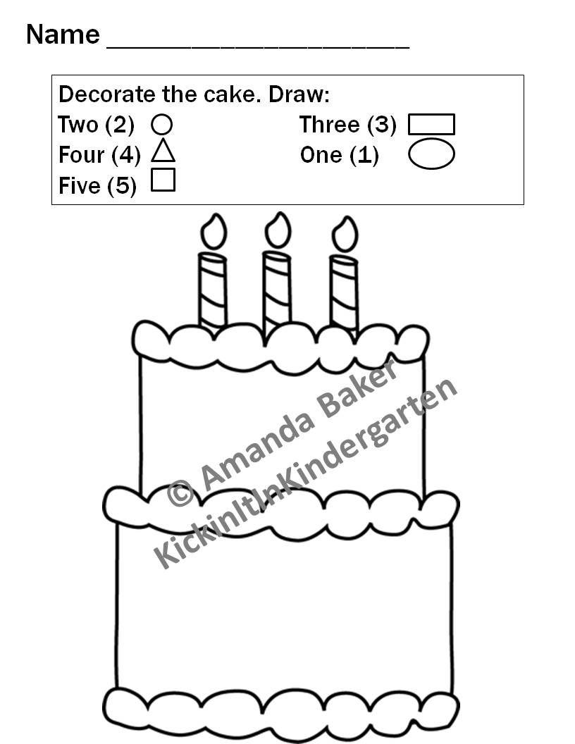 worksheet Cake Decorating Worksheets 2d shapes worksheets for pre k 3 3