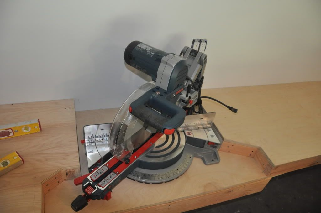 Ultimate Miter Saw Counter With Dust Collection Bosch