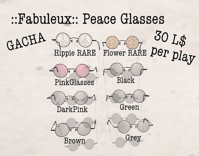 ::Fabuleux:: Peace Glasses   Flickr - Photo Sharing!