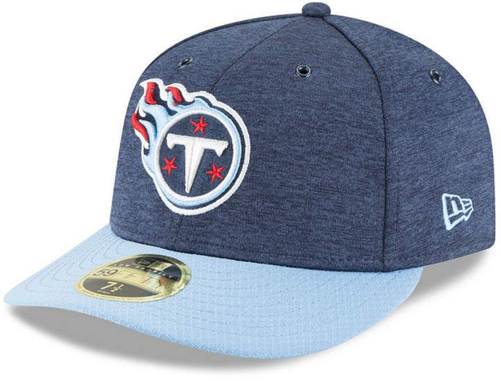 lowest price a761b c0195 New Era Tennessee Titans On Field Low Profile Sideline Home 59FIFTY Fitted  Cap