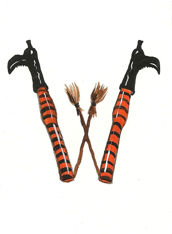 Halloween Alphabet Letter R Cat Witch Ryta: HALLOWEEN ALPHABET LETTER W