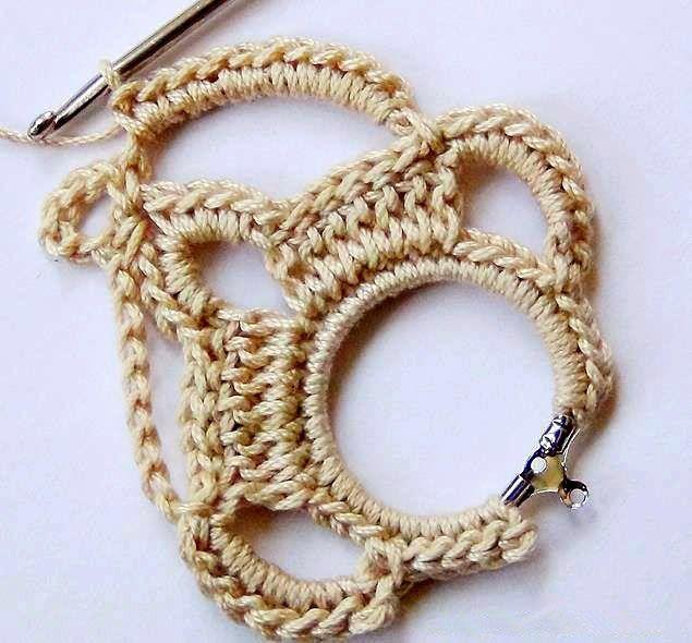 a2ecd12cd892 tejidos artesanales en crochet  aros tejidos en crochet paso a paso ...