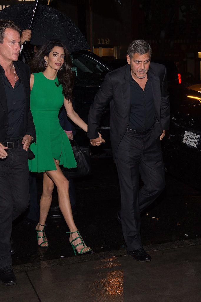 Amal and George Clooney at NYC Film Festival 2015 | POPSUGAR Celebrity UK