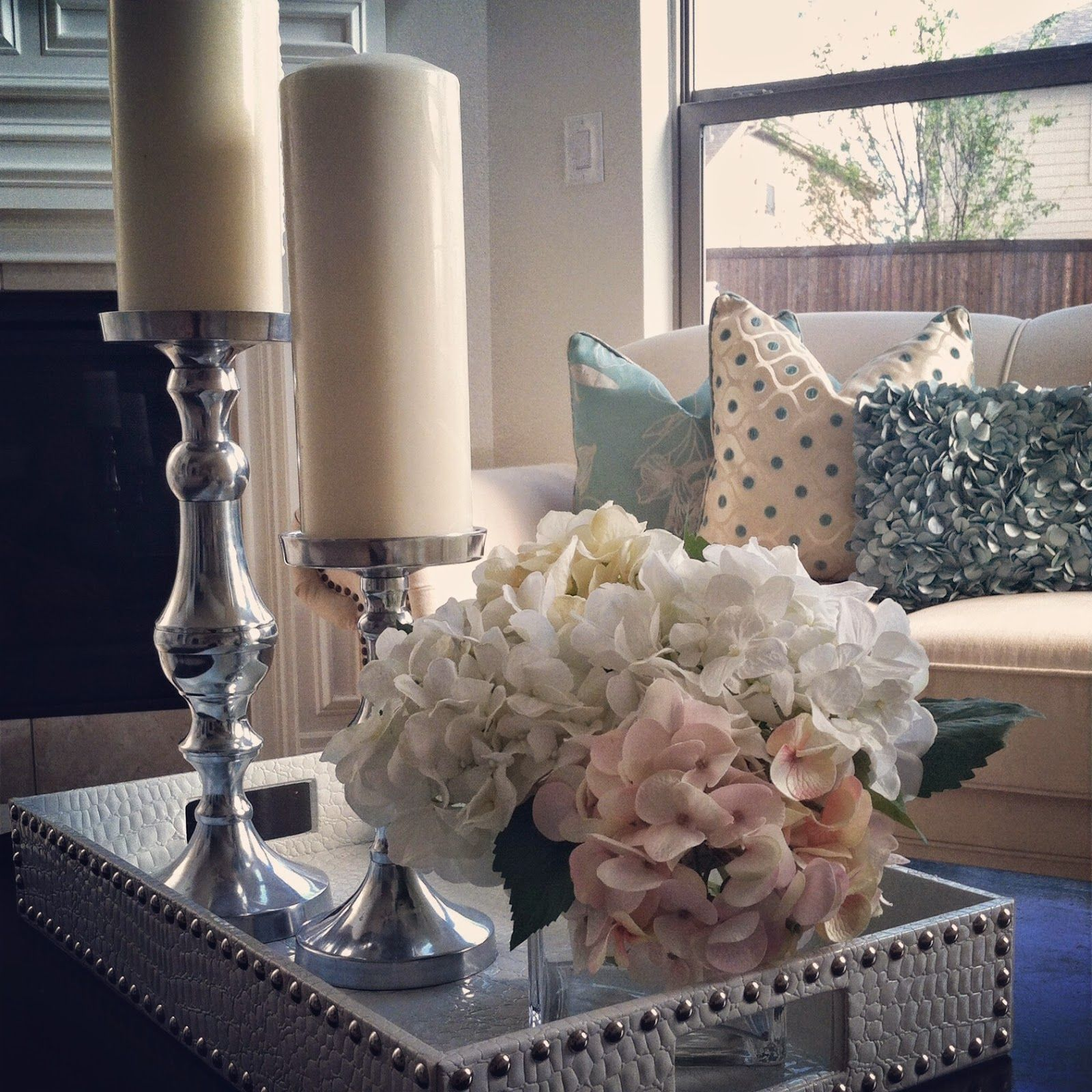 nissa-lynn interiors: my coffee table decor in the morning