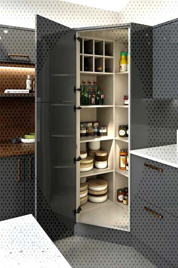 26+ Facts, Fiction and Corner Pantry Ideas Small Kitchen -