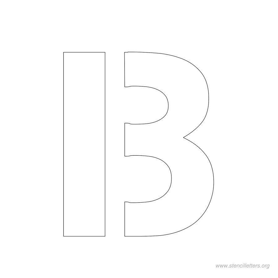 Inch Stencil Letter B  Printable Stencils    Stencil