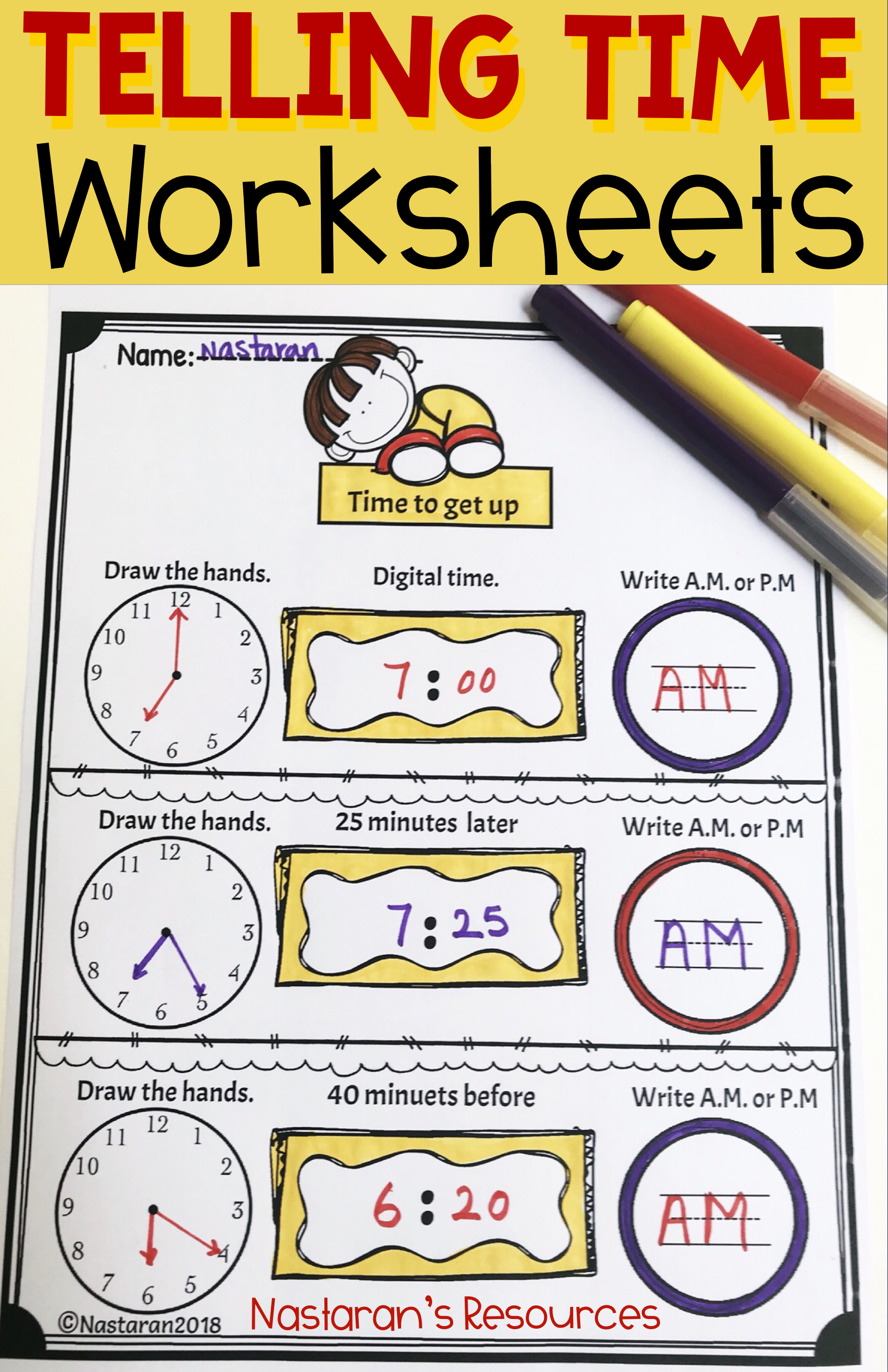 Telling Time Activities And Worksheets For 2nd Grade
