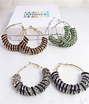 Colorful Hoop Earrings. Great for Stocking Stuffers just $5.00 each @Phancystore.com