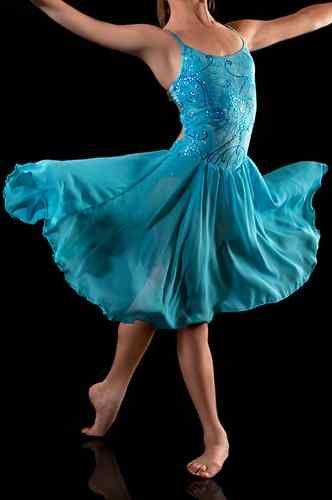 11d5d6876 Gorgeous Tie Dye Blue Lyrical Dress Dance Costumes Lots Available | eBay