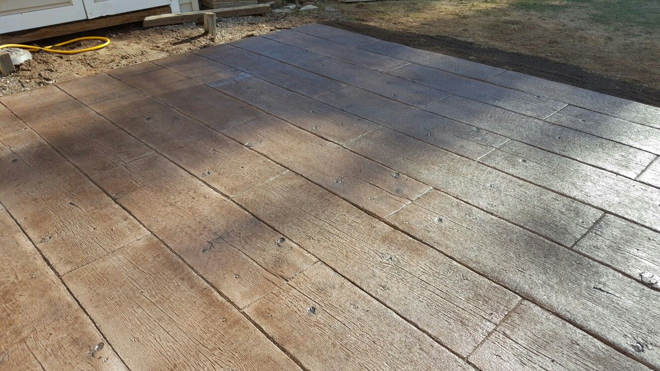 Wood Stamp Concrete Patio Wood Stamped Concrete Concrete Wood Stamped Concrete Patio