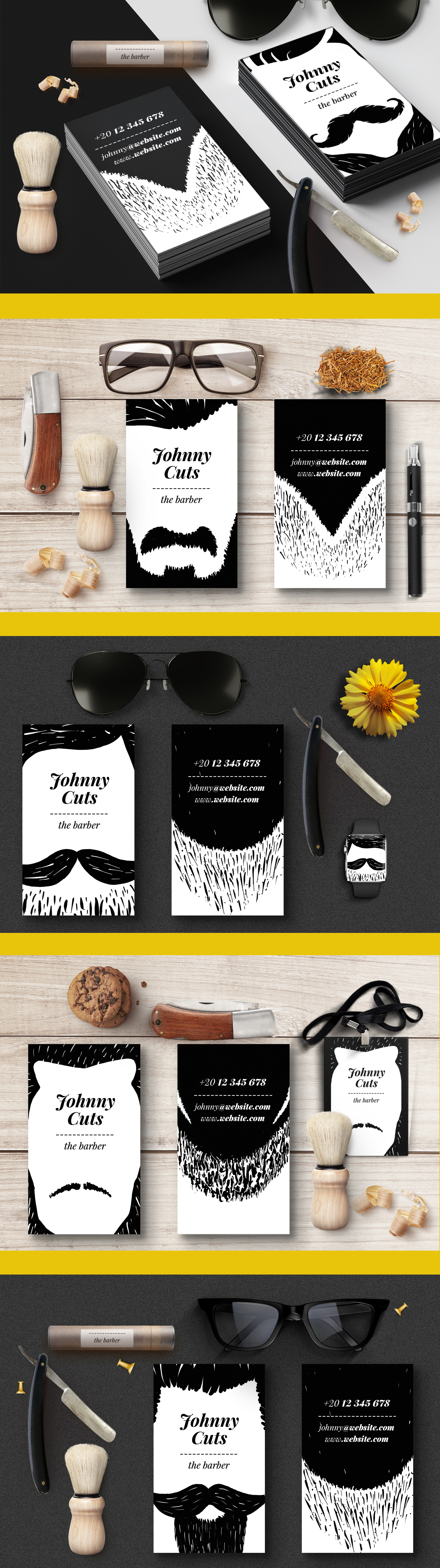 The barber business cards templates business cards and business choose your hairstyle and your beard then edit your name and youre done customize the business card to match your style you have 25 variations possible reheart Gallery