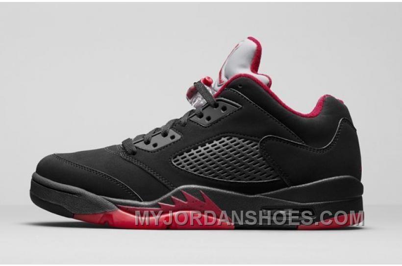 Air Jordan 5 Low Alternate 90 Black Gym Red-Metallic Hematite 819171 ... f853071ef