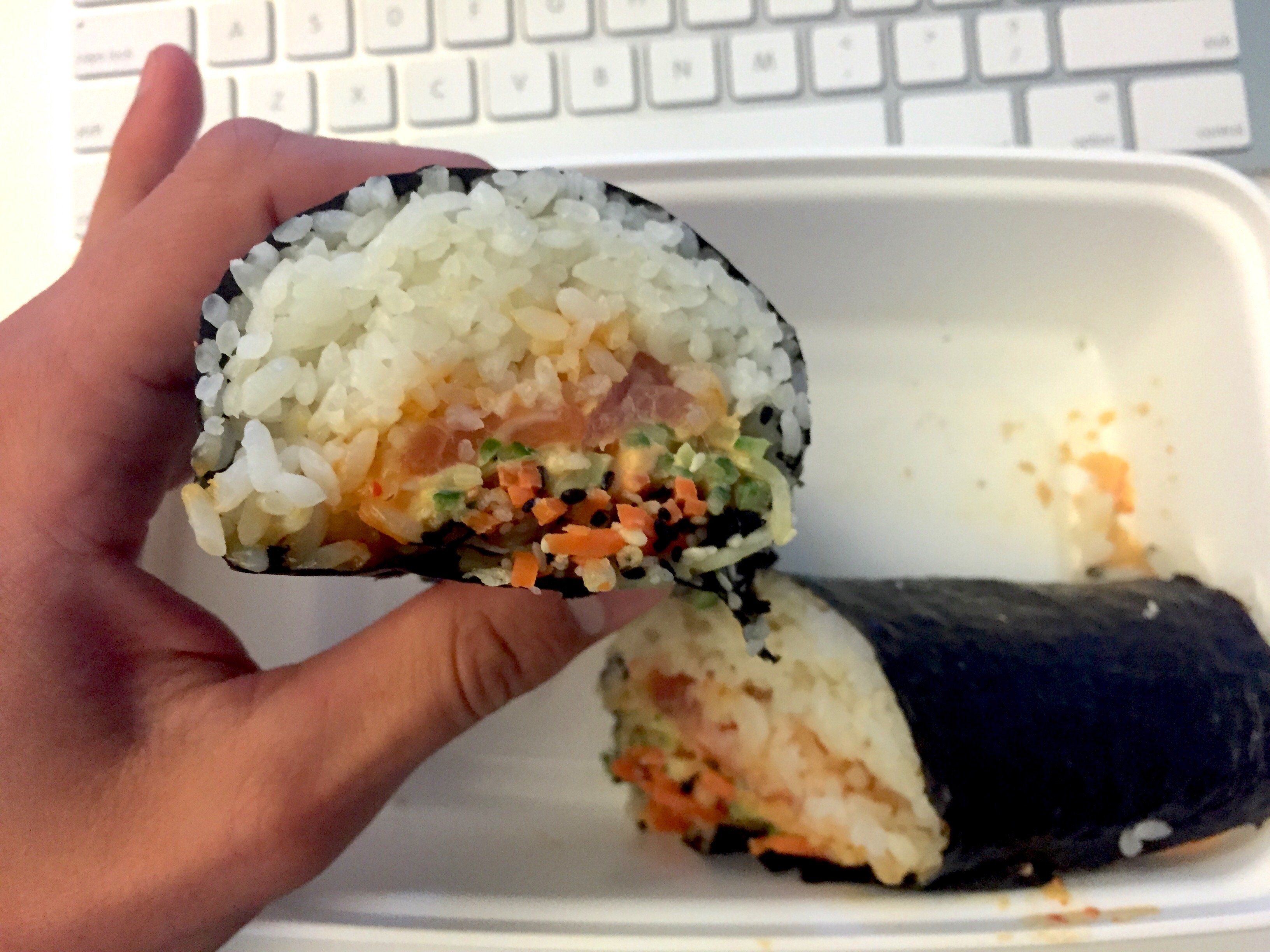 I had an amazing experience ordering a sushi burrito