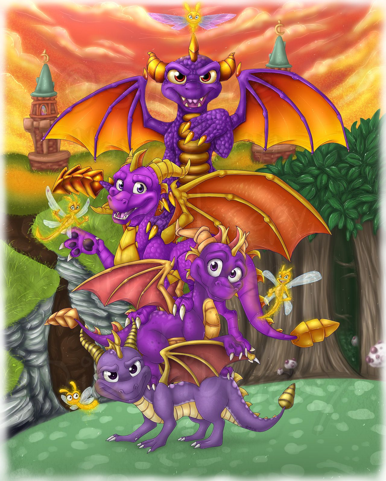 The purple little hero by shaloneSK Dragon artwork