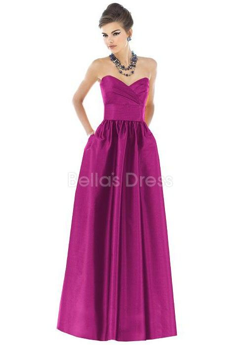 767c7beb76 Exceptional Floor Length A line Taffeta Sweetheart Bridesmaid Dress ...