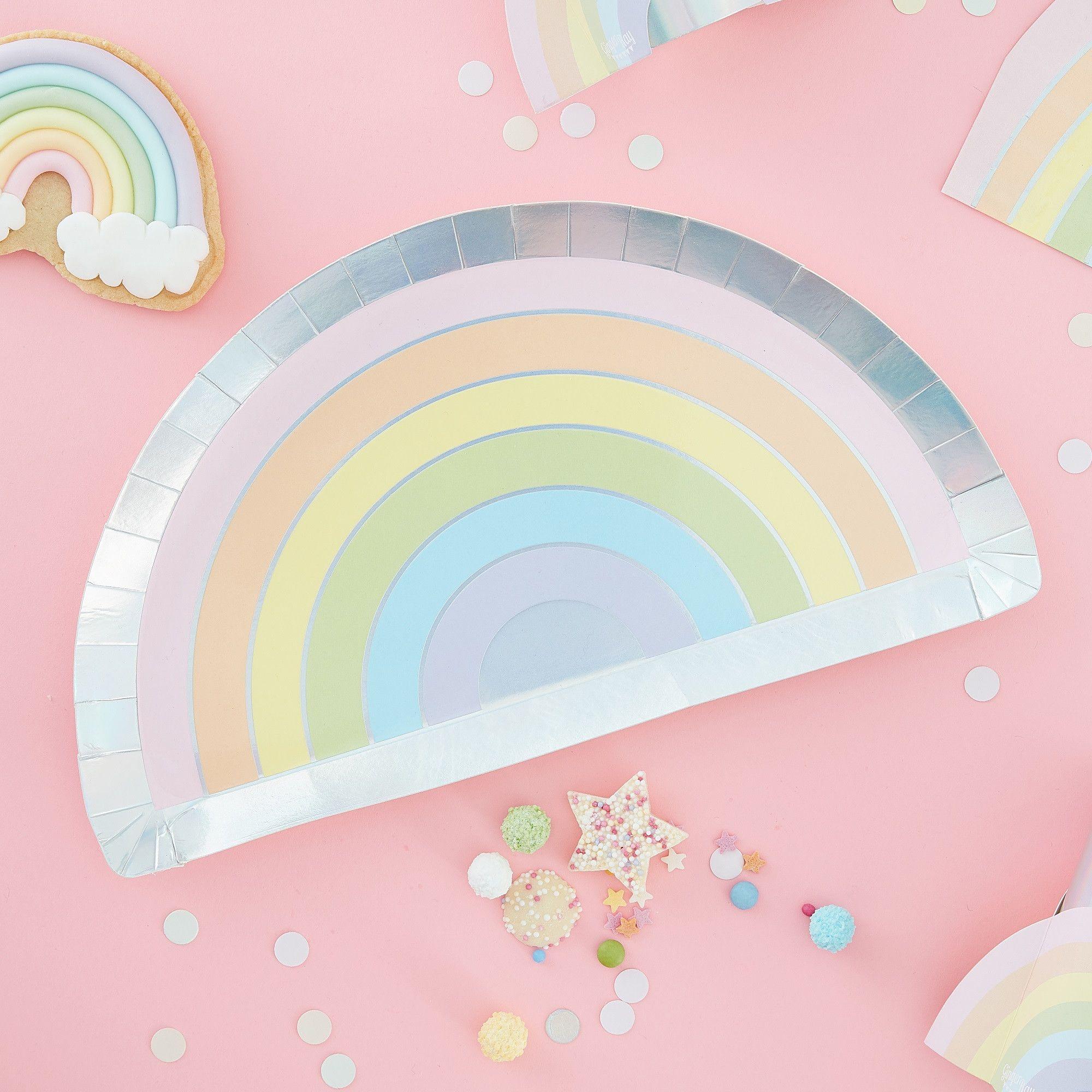Rainbow /& irisé Fête Serviettes en papier-Fête D/'Anniversaire-Fête Serviettes