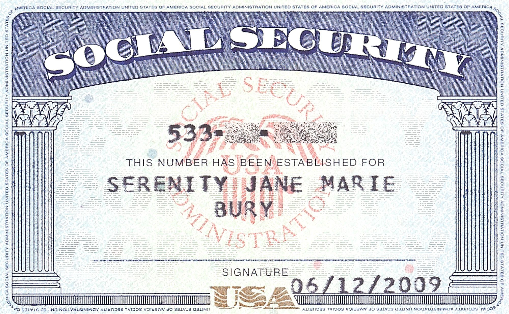 picture relating to Printable Social Security Card Template named Social+Protection+Card+Blank In general Social stability