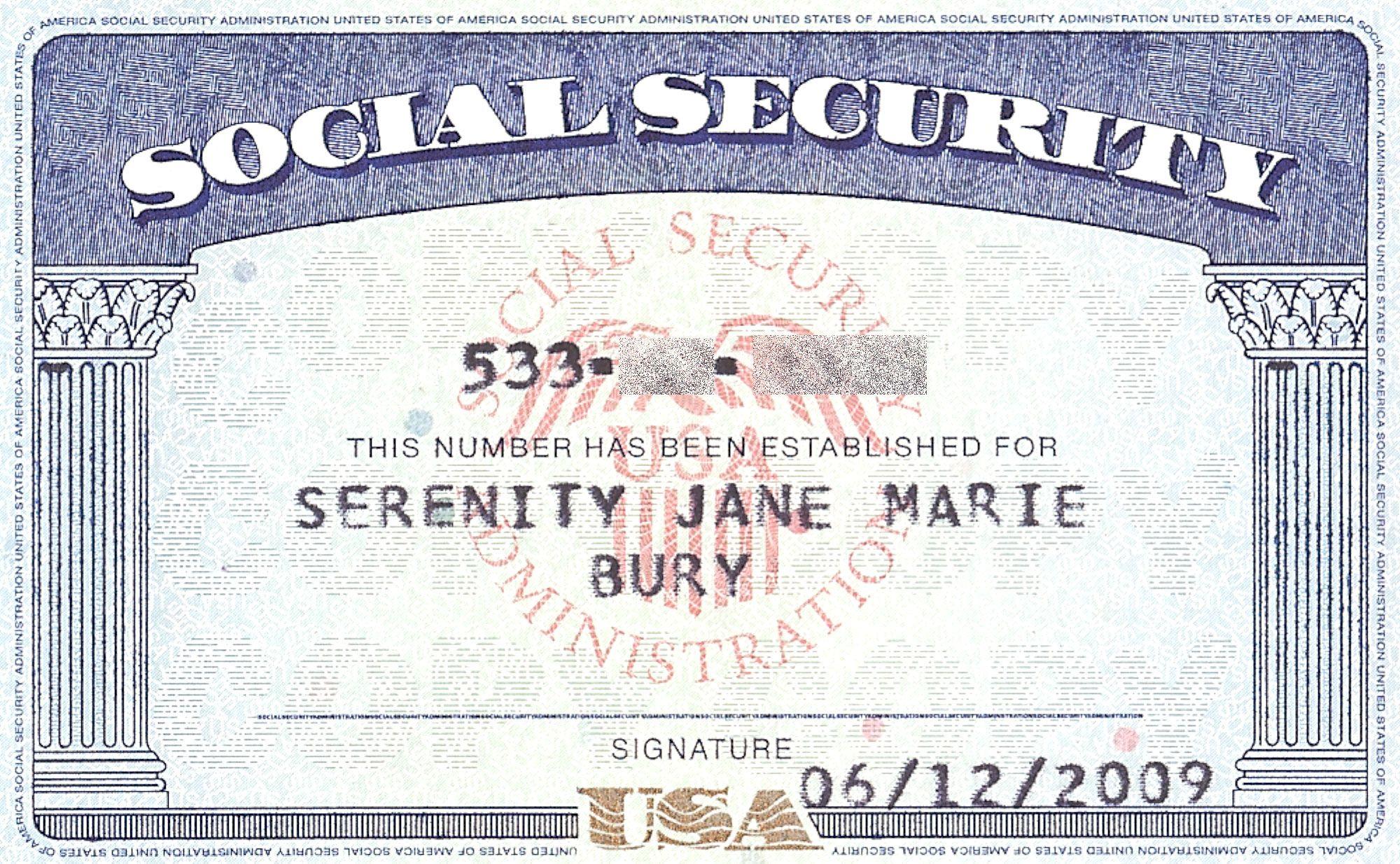 Top Printable Social Security Card Template