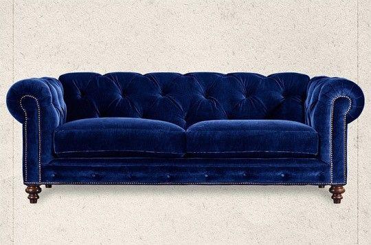 Velvet Cobalt Blue Chesterfield Couch Blue Velvet Sofa
