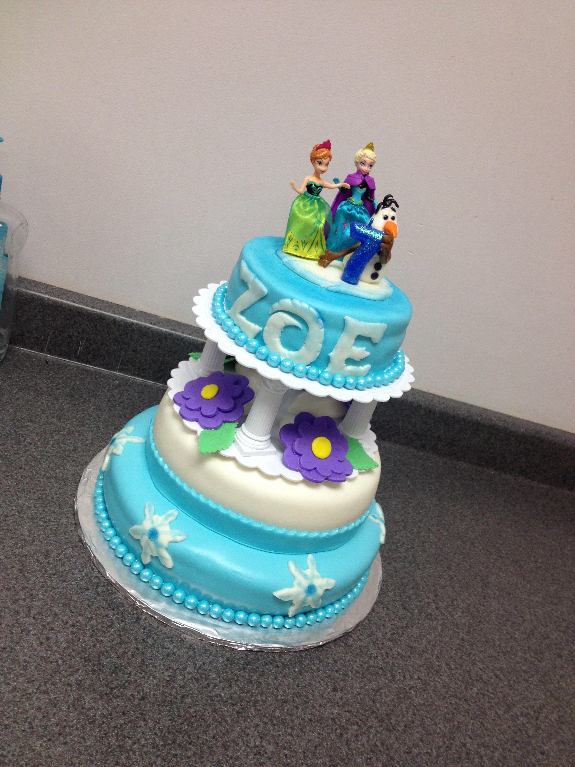 Happy Cakes My Cakes Zoe Cake Frozen Birthday Snow Party