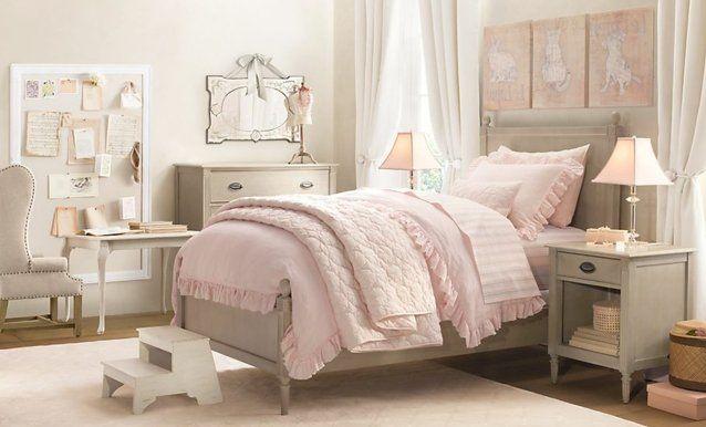 1001 conseils et id es pour une chambre en rose et gris sublime interior d co chambre - Chambre fille vieux rose ...