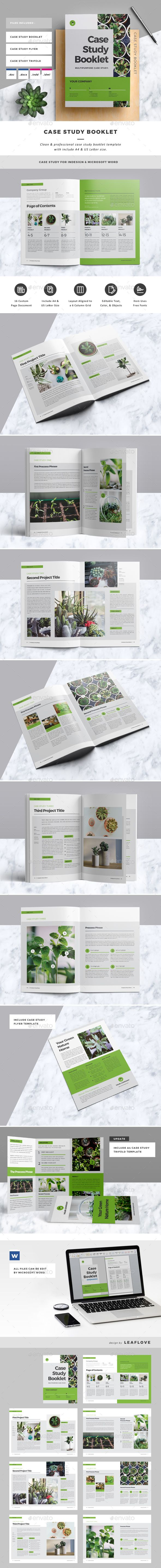 Case Study Booklet | Brochures, Layouts and Brochure template