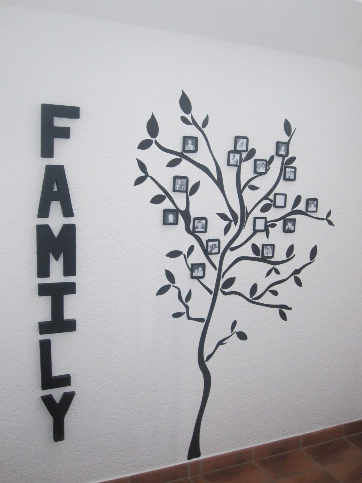 Our Journey Family Tree  Wall Decal With Picture Frames