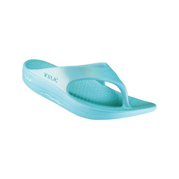6087102cb21d Telic Flip Flop - Aqua Lagoon Thong Sandals ( 40) ❤ liked on Polyvore  featuring