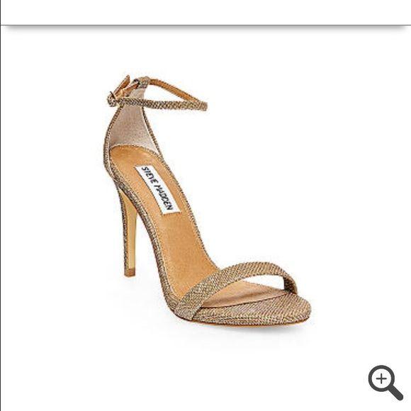 Steve Madden heels Steve Madden gold fabric heels. Worn once to a military  ball inside