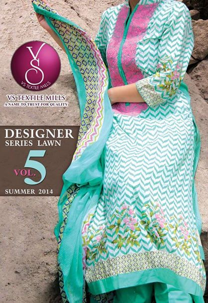 Vs Textile Mills Designer Summer Eid Lawn Suits 2014 Vol 5 14 Vs Textile Mills Designer Summer Eid Lawn Suits 2014 Vol 5
