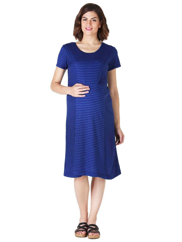 Royal blue striped maternity dress morphmaternity maternity royal blue striped maternity dress morphmaternity ombrellifo Gallery