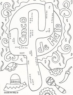 Cinco De Mayo Coloring Page Free Download Quote Coloring Pages