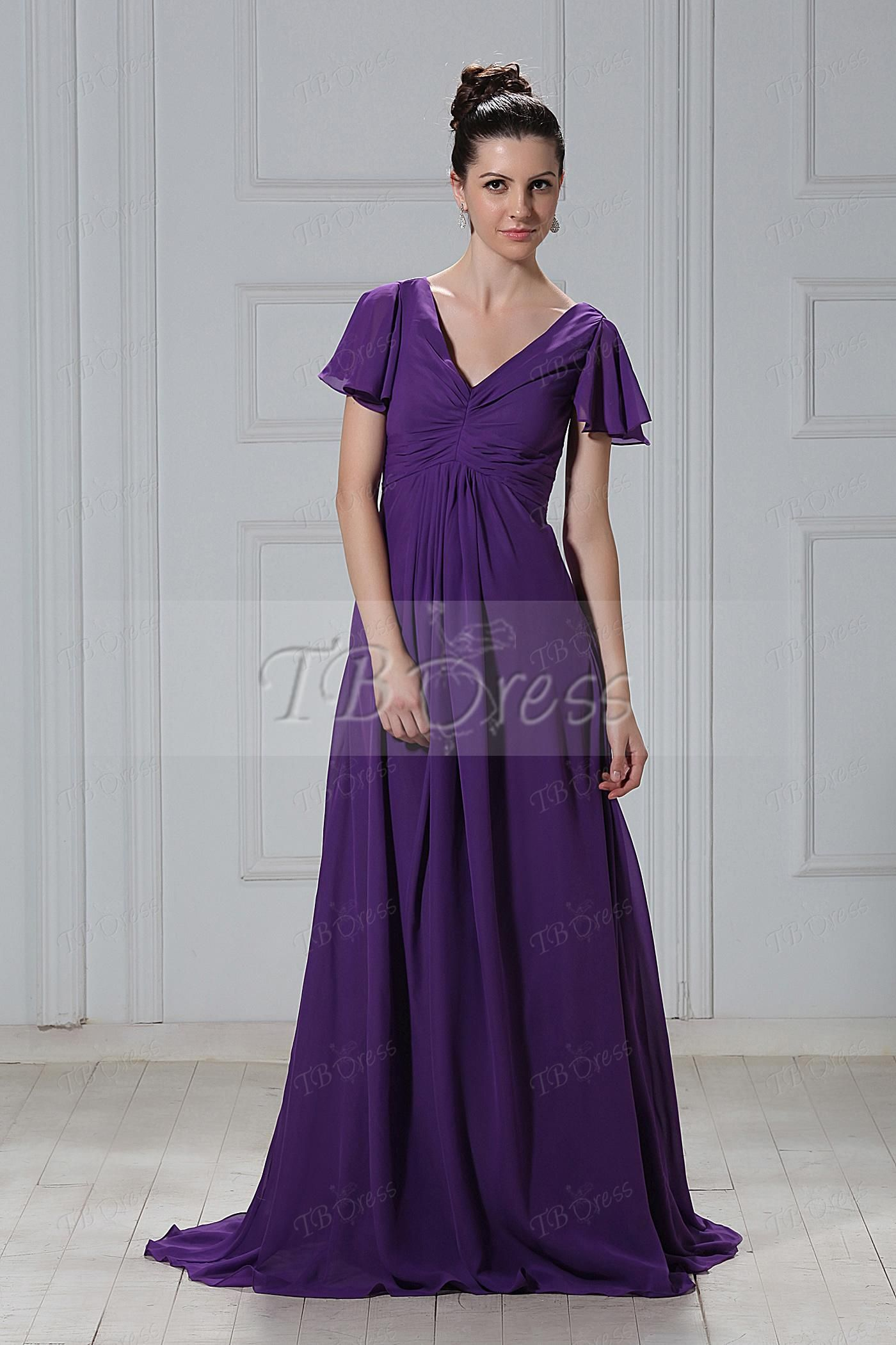 Ruched A-Line Strapless Empire Waist Floor-Length Bridesmaid Dress ...