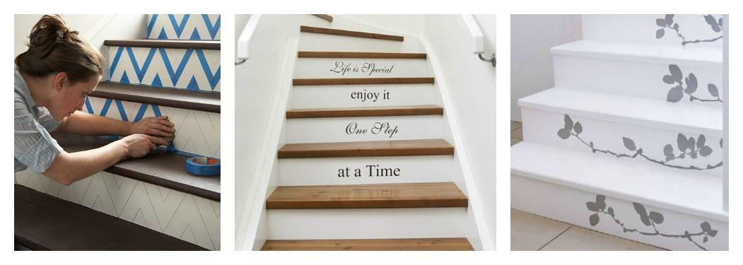 Stenciled Stair Risers | Stenciled Stair Risers