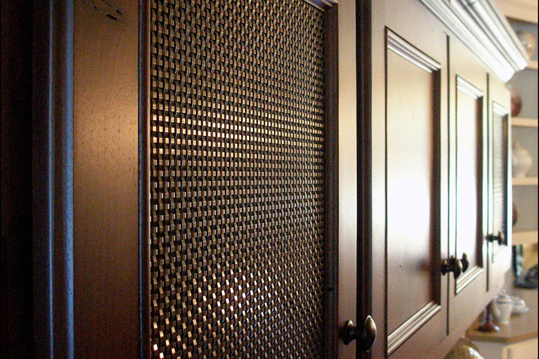 Sandstone Residence Bronze Woven Wire Mesh Cabinetry