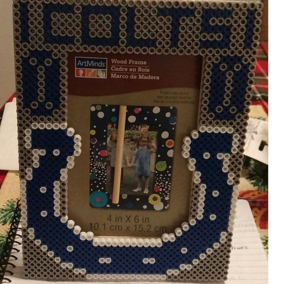 Indianapolis Colts Picture Frame | Indianapolis colts, Perler beads ...