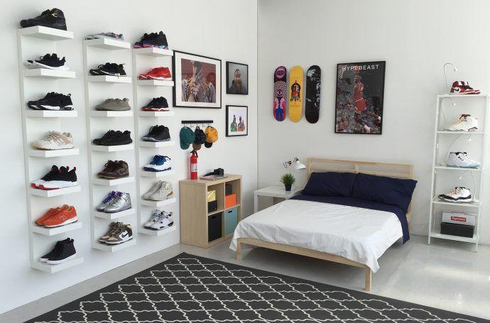 ikea et hypebeast la chambre id ale d 39 un sneakerhead. Black Bedroom Furniture Sets. Home Design Ideas
