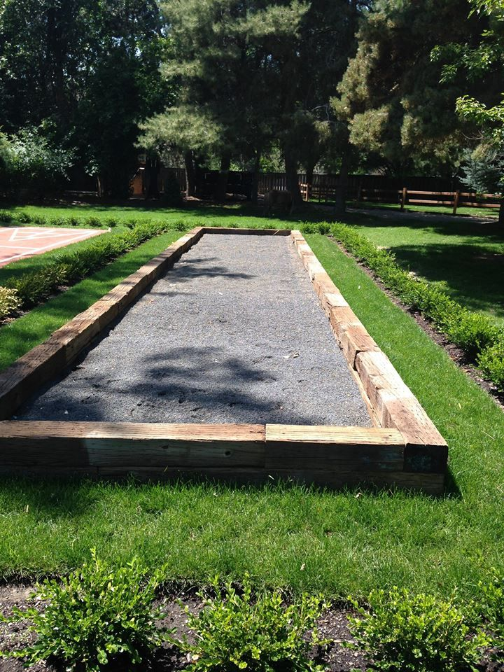 Bocce ball Court #backyard   Backyard, Bocce ball court ...
