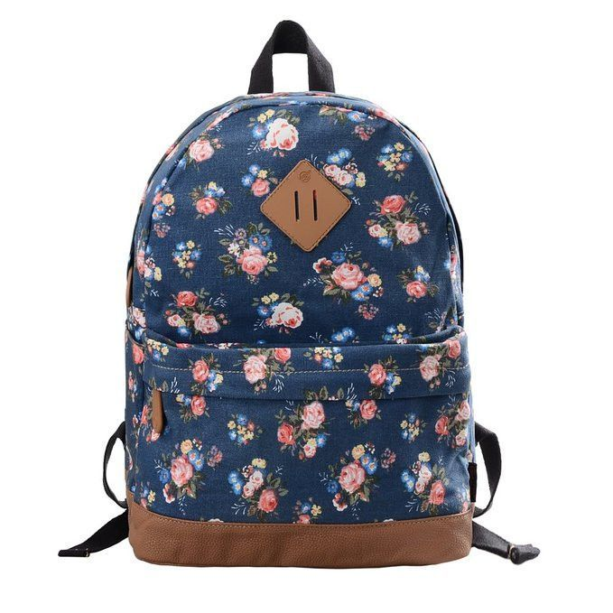 d98cc3a231e4 Keep your style focused with this fashionable allover print backpack! -  Durable and sturdy printing canvas backpack with faux leather bottom -  Single carry ...